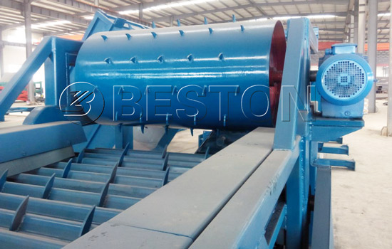 Uniform feeder in automatic sorting plant