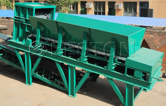 Plate feeder in garbage sorting plant