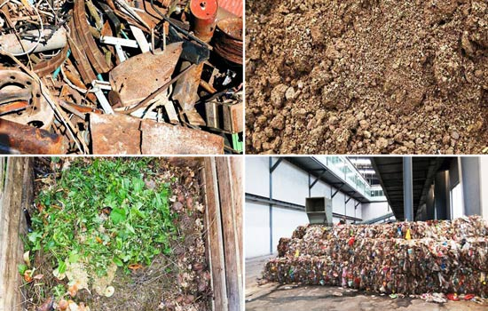 The waste from waste recycling plant