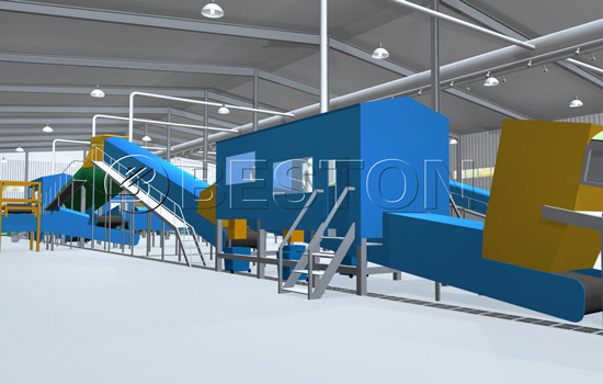Beston Trash Recycling Equipment Model Diagram with Great Design