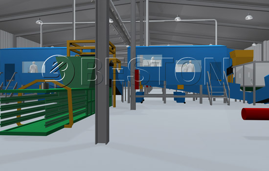 Beston Waste to Energy Plant With High Sorting Rate-3D Model