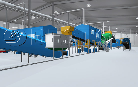 Beston MSW Treatment Plant - 3D Model Design
