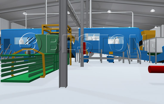 Beston Material Recycling Facility-3D Model Demonstration