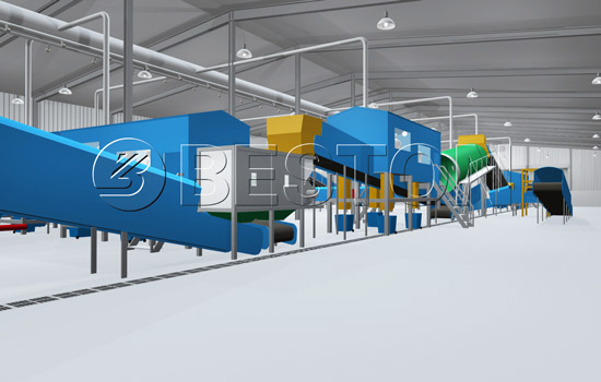 Beston Solid Waste Separation Equipment - 3D Model
