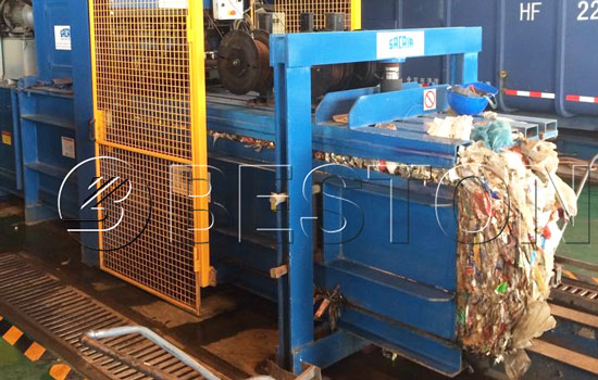 Packing Machine in the Waste Separation Plant