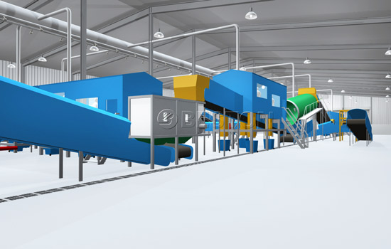 Beston Automatic Waste Machine for Sale-3D Model