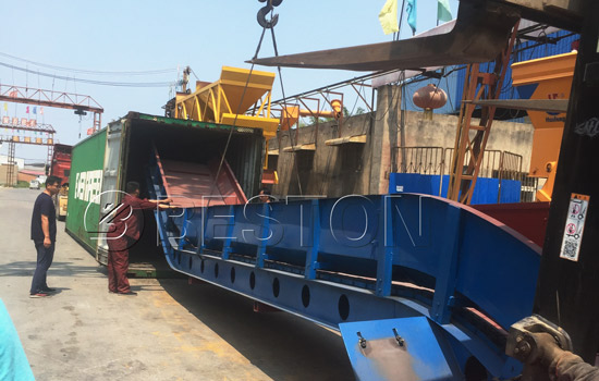 Beston Solid Waste Disposal Equipment for Sale Shipped to Hungry