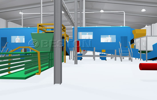 Beston Solid Waste Management Sorter with Automatic System