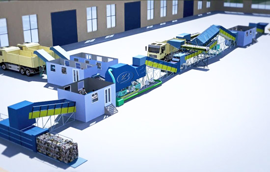 Beston Garbage Sorting Equipment 3D Model
